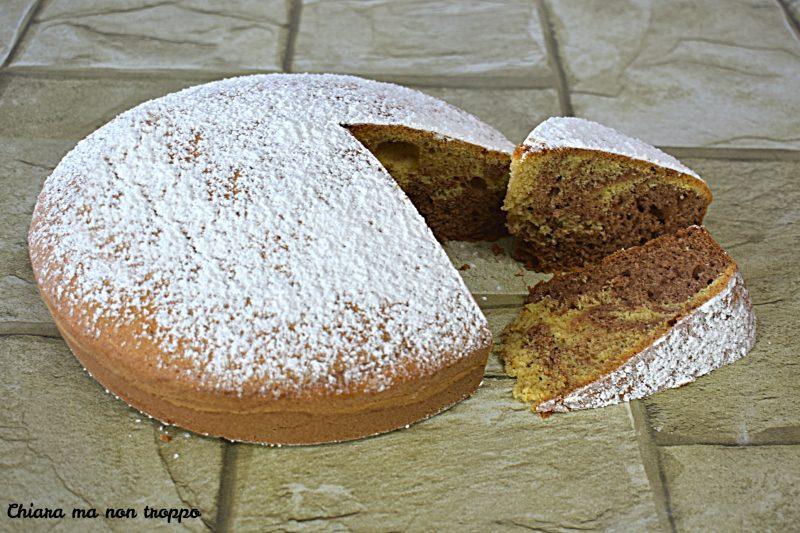 Torta variegata vaniglia e Ciobar