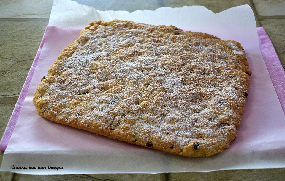 Torta crostata con gocce di cioccolato