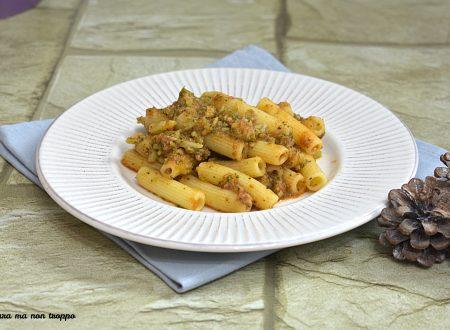 Pasta con broccoli e carne macinata