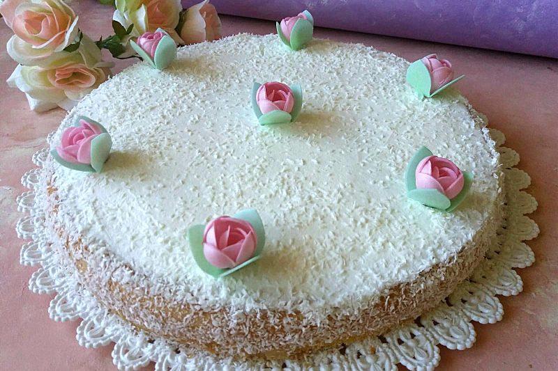 Torta crema panna e cocco