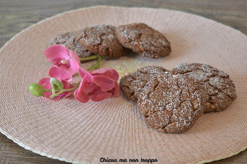 Cookies al cacao senza burro