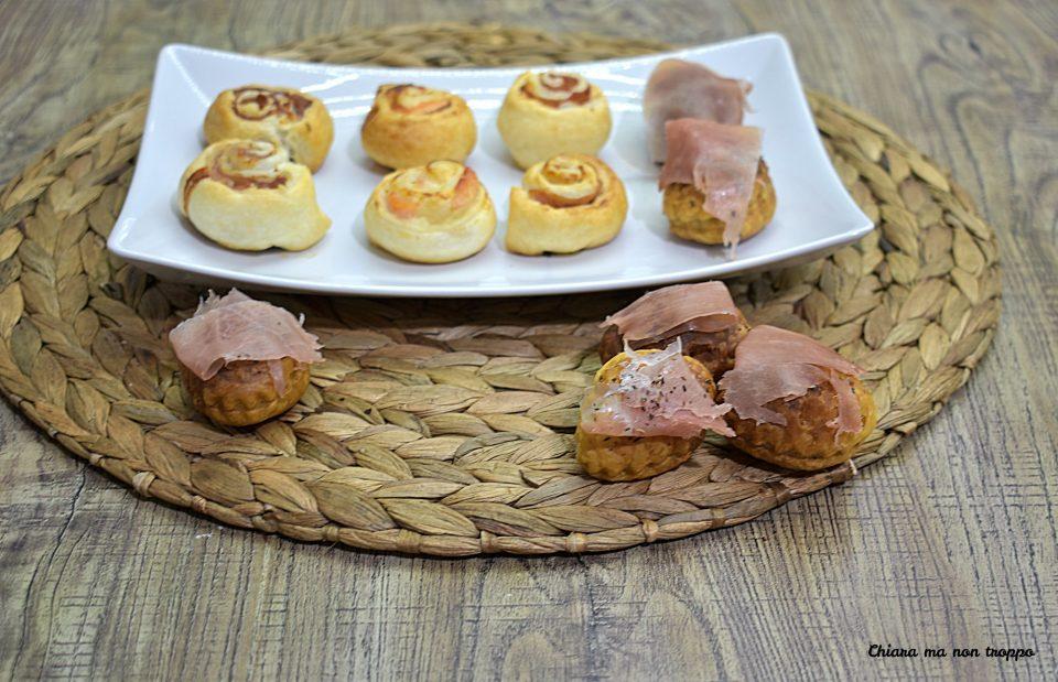 Biscottini salati di pasta sfoglia e speck