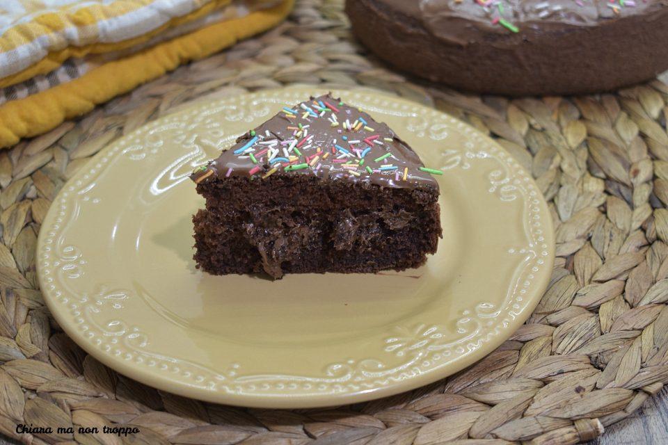 Torta morbida con albumi e Nutella