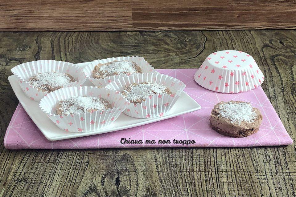 Mini cheesecake cocco e Nutella