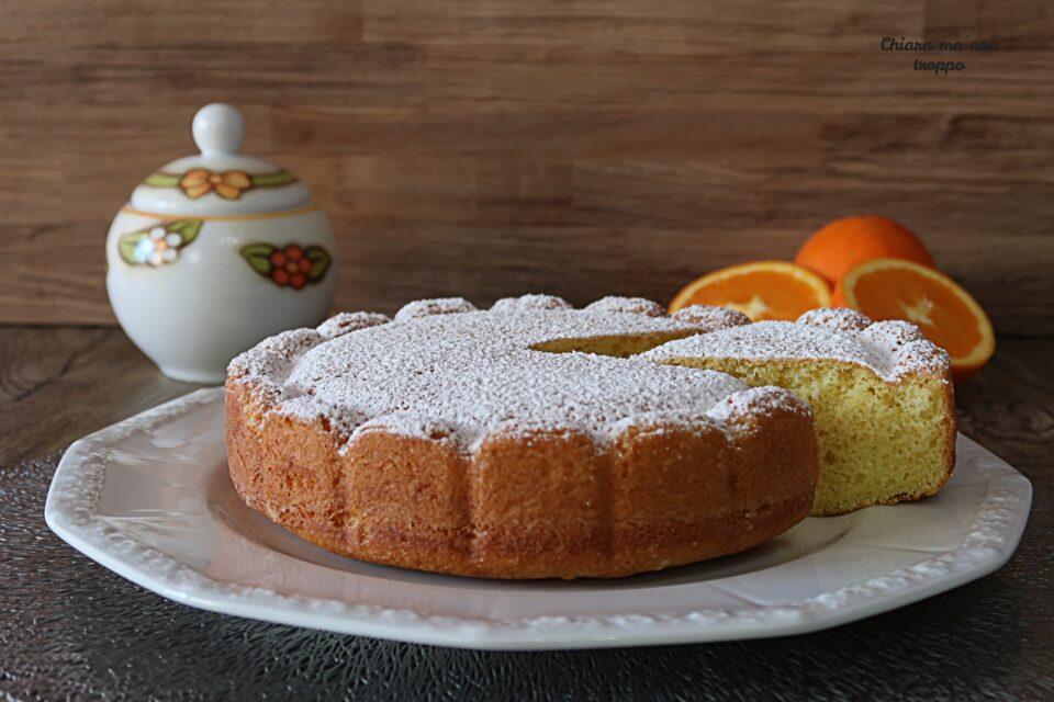 Torta al cucchiaio all'arancia