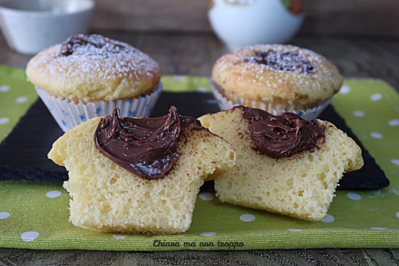 Muffin con il cuore di Nutella