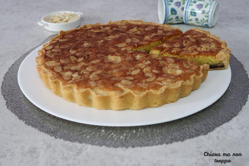Crostata con crema frangipane