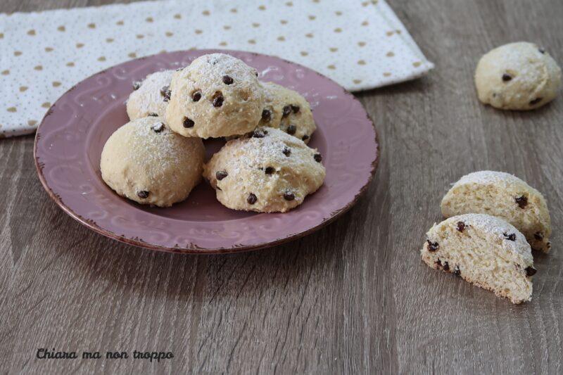 Biscotti al latte di cocco e gocce di cioccolato