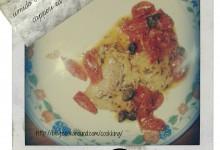 Filetti di merluzzo in umido con pomodorini, capperi ed erbette