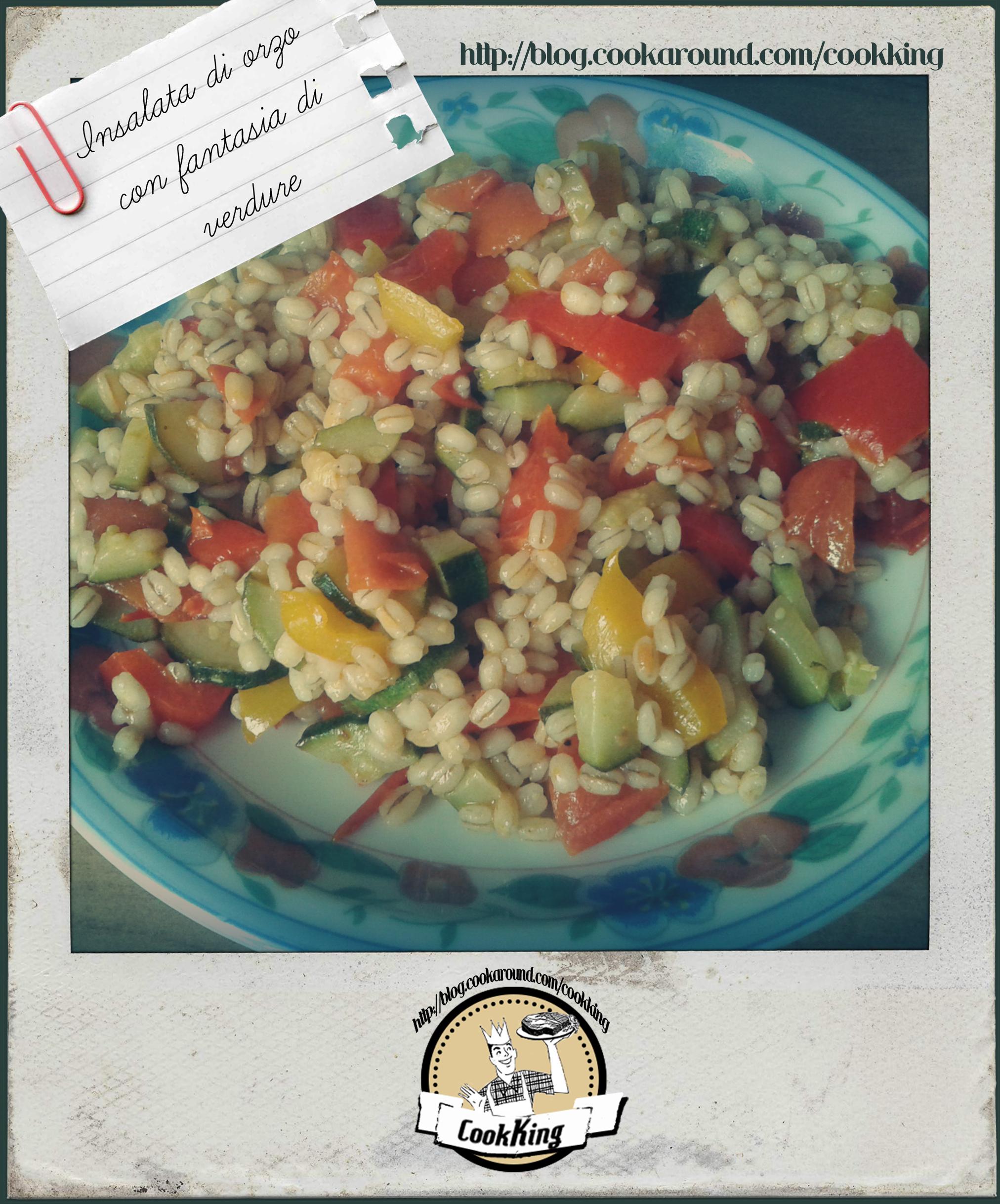 INSALATA DI ORZO CON FANTASIA DI VERDURE - CookKING