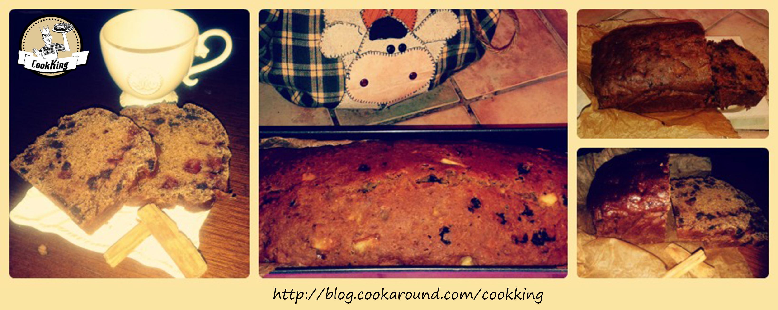pLUM-CAKE INTEGRALE NOCCIOLE, MELE E CANNELLA SENZA UOVA E LIEVITI Collage - CookKING