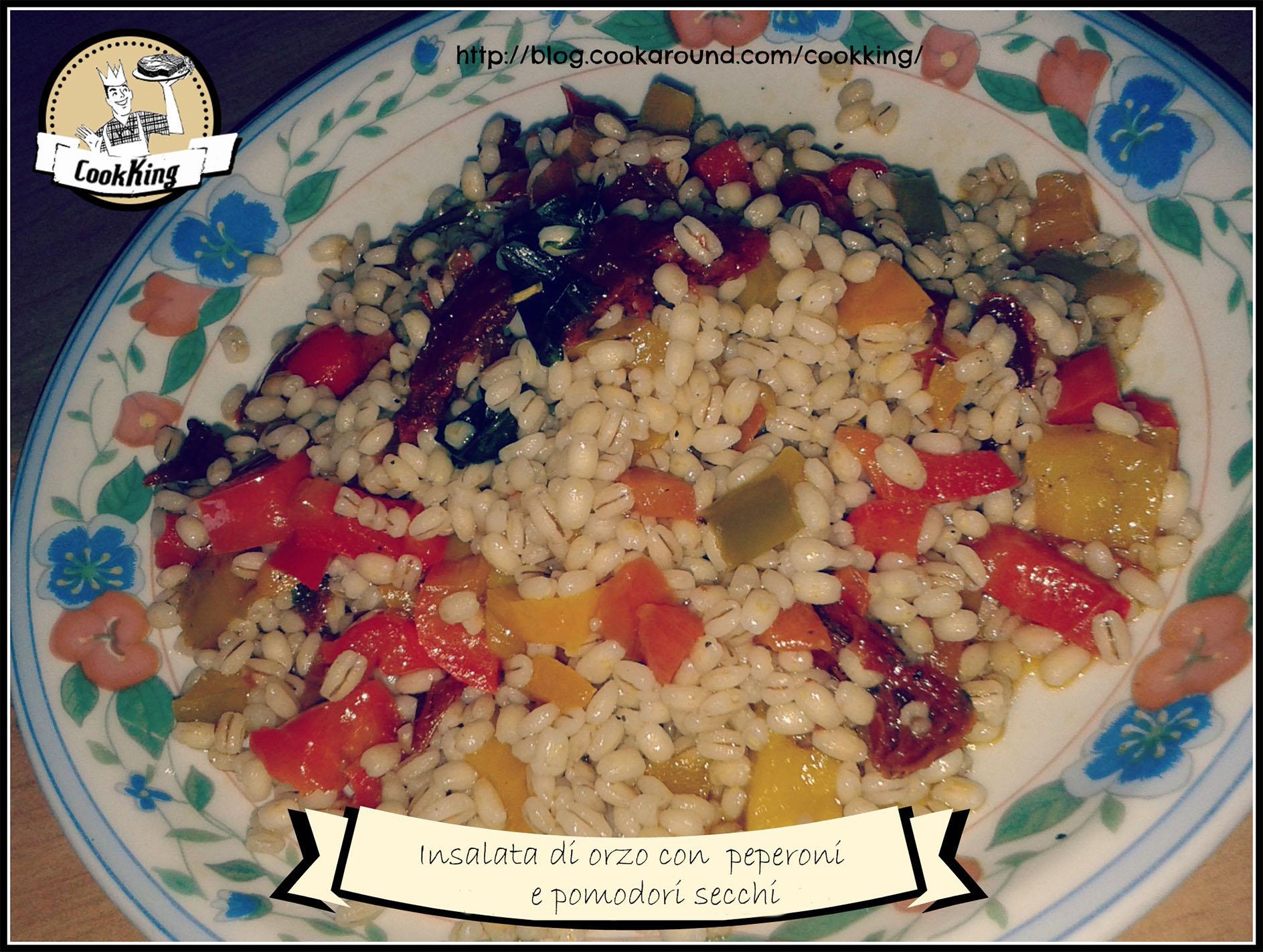 insalata di orzo con peperoni e pomodori secchi - CookKING