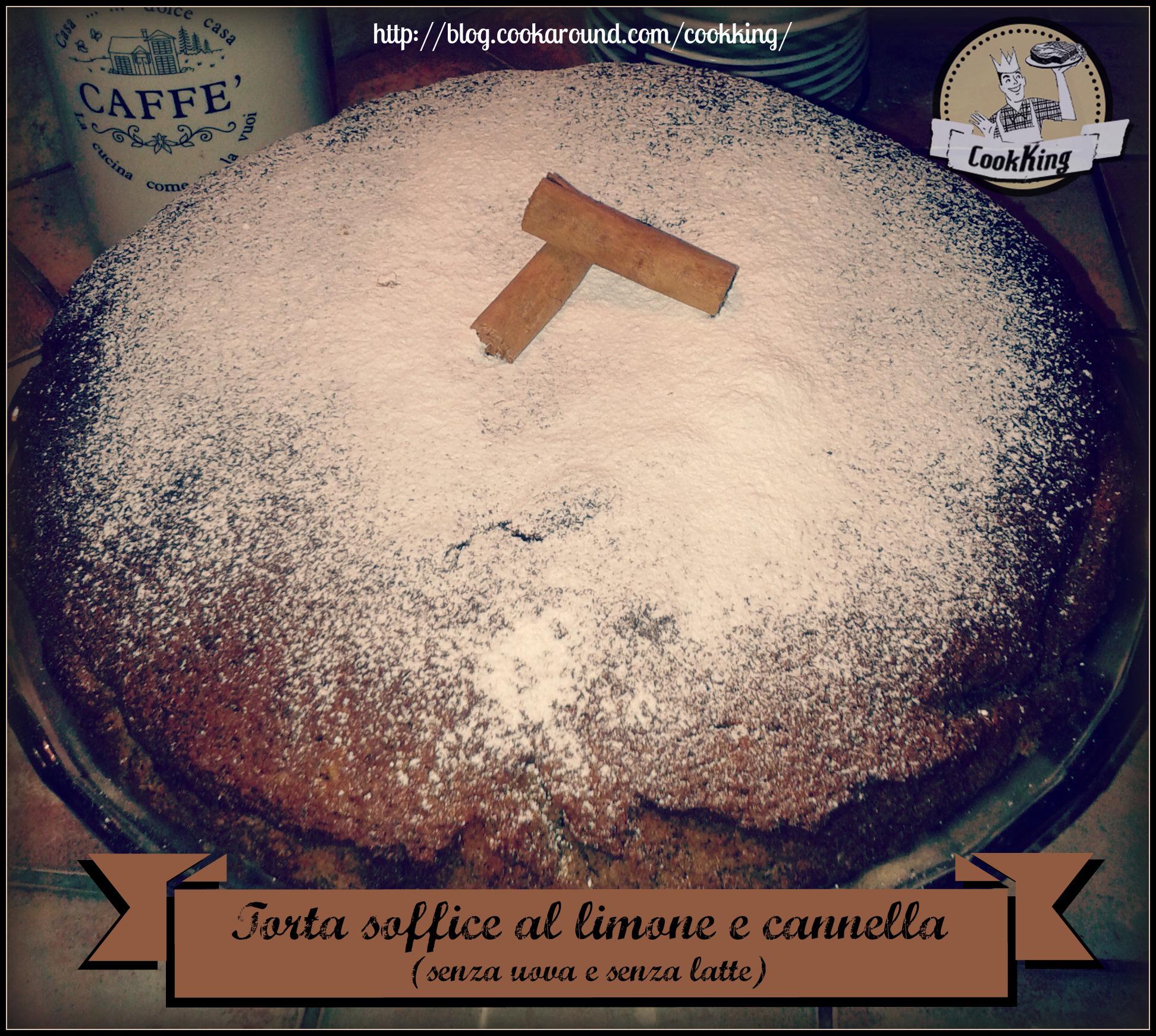 Torta soffice al limone e cannella (senza uova e senza latte)