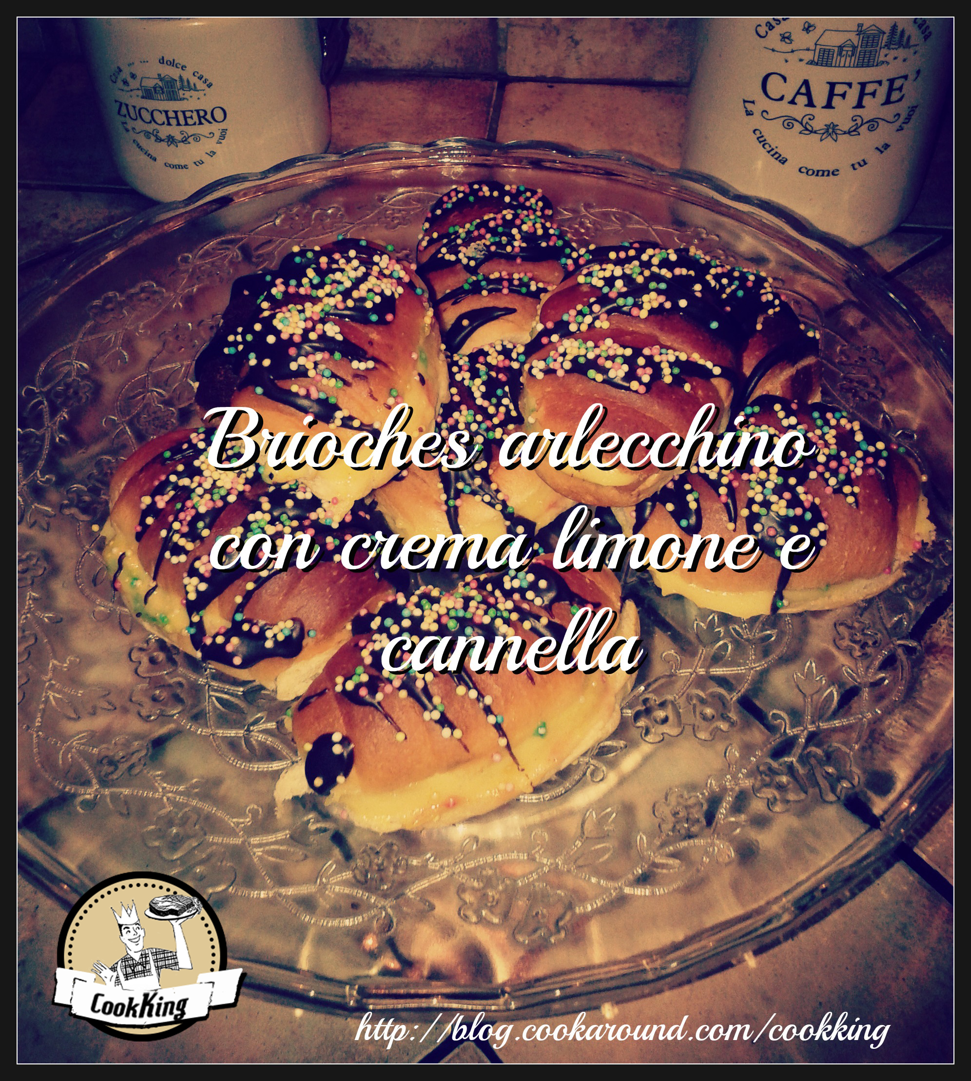 Brioches arlecchino con crema limone e cannella - CookKing