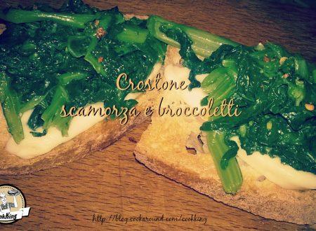 Crostone scamorza e broccoletti