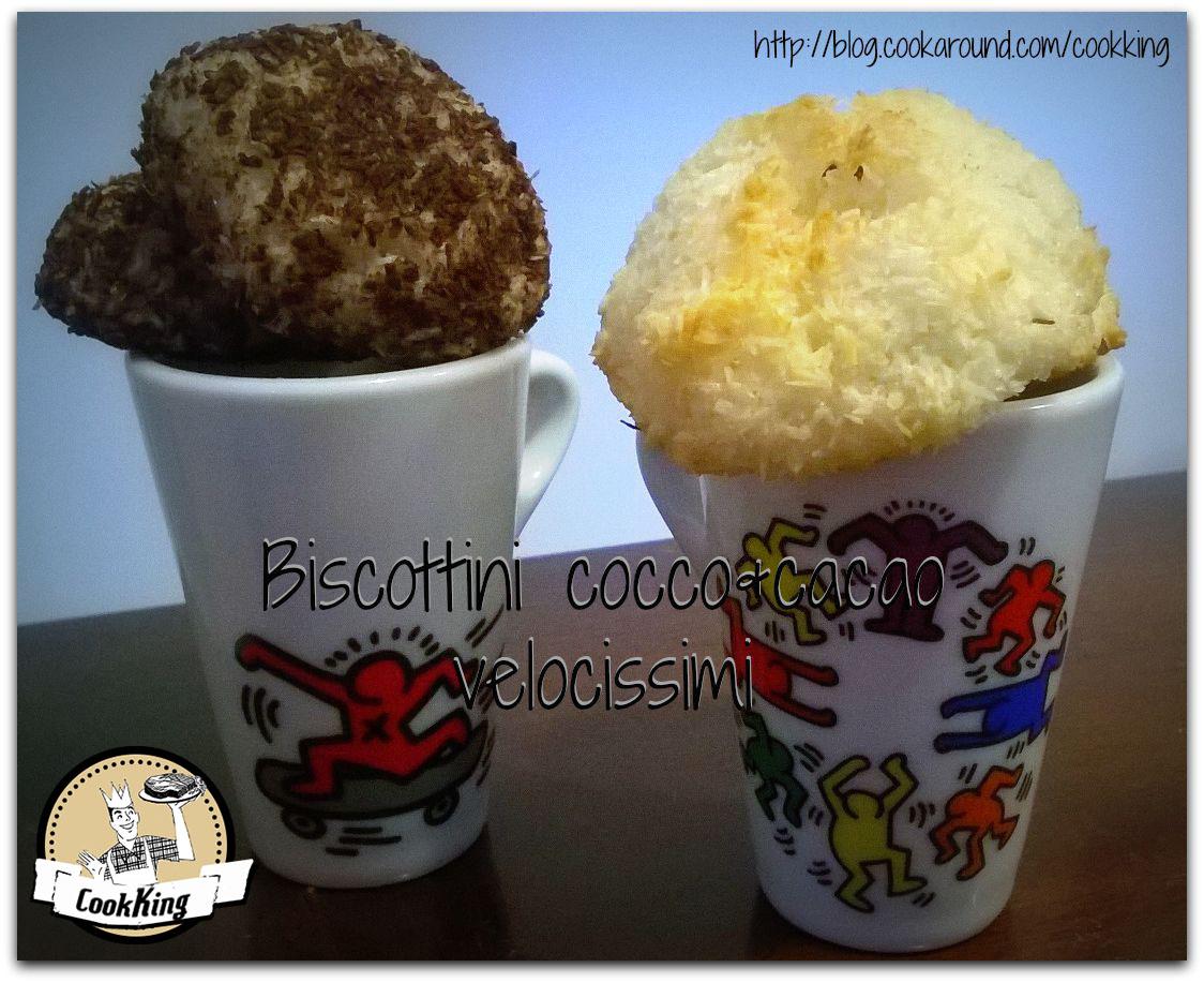 Biscottini cocco&caco velocissimi-CookKing