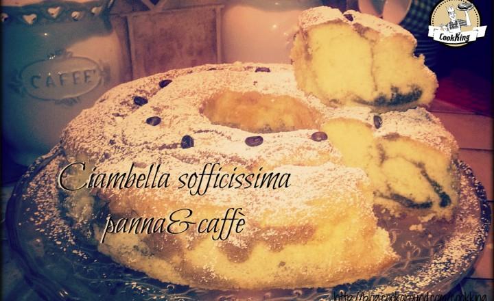 Ciambella sofficissima panna e caffè