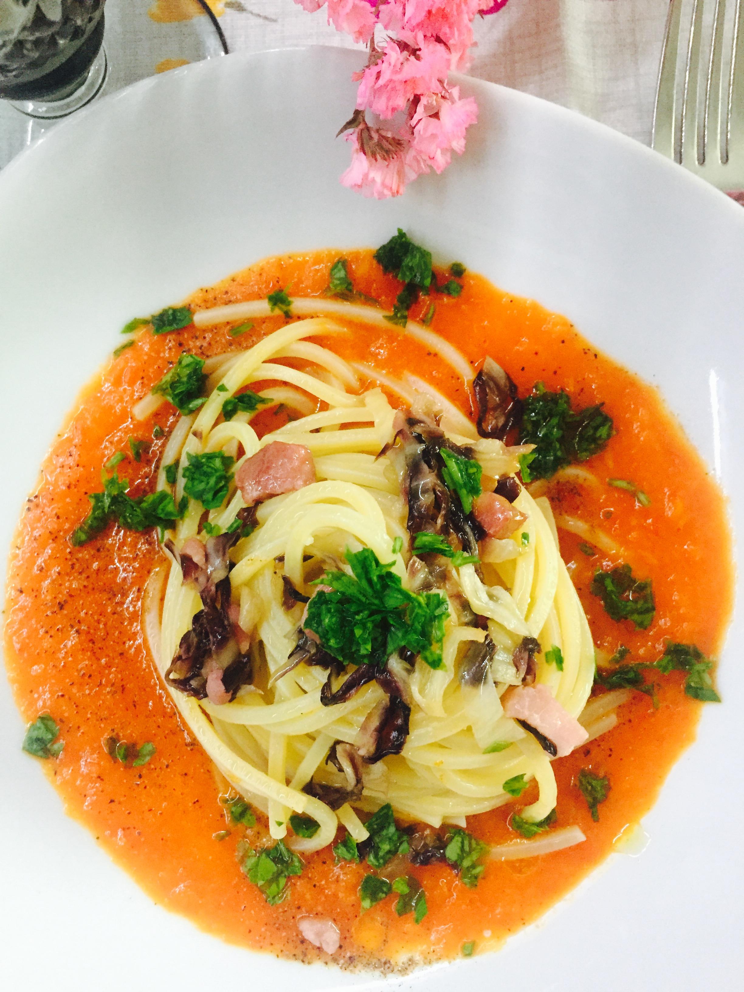 Chitarrine alla salsa di peperoni blog di cucinachepassione for Sognare asciugamani