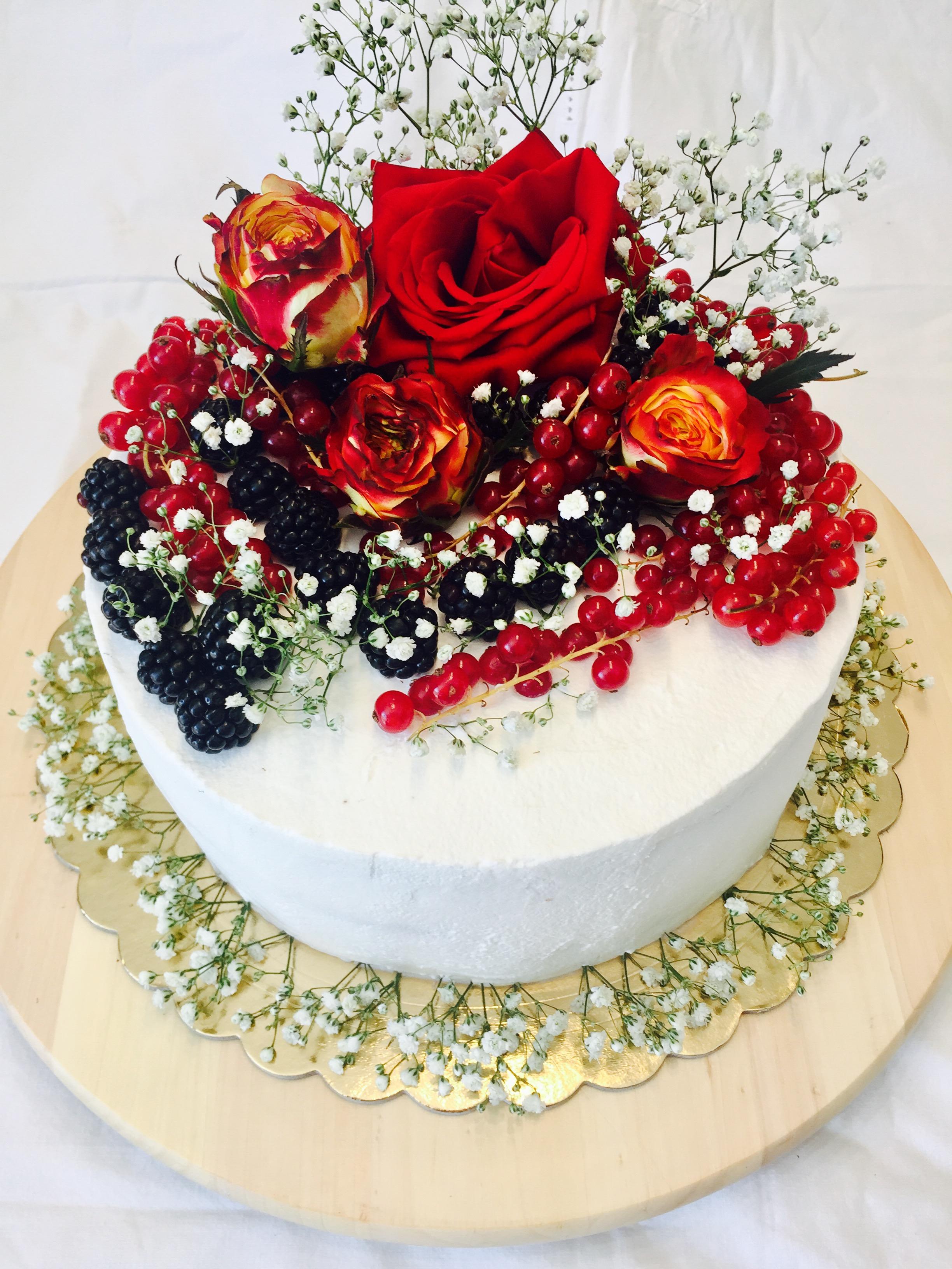 Torta di compleanno con rose   Blog di cucinachepassione