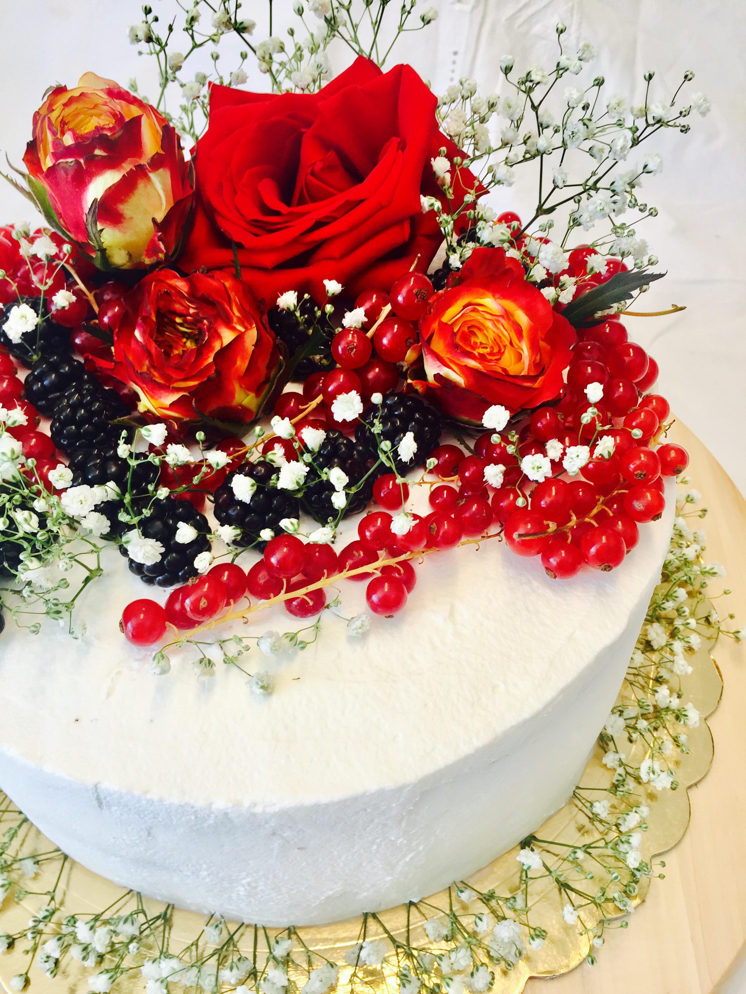 Torte Decorate Per Natale torta di compleanno con rose