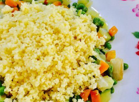 Cous cous con contorno di verdure