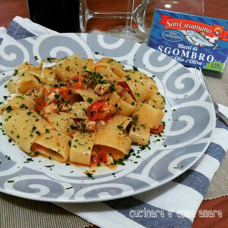 Calamarata sgombro e pomodorini cucinare come amare for Cucinare sgombro