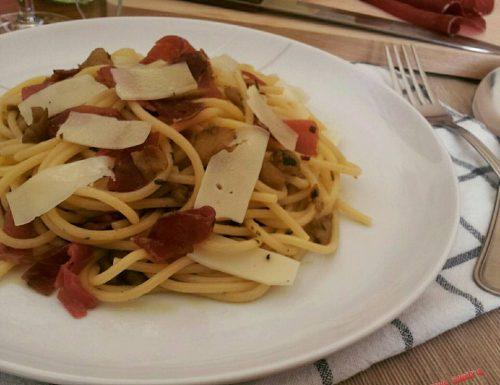 Spaghetti con Bresaola e Greviera
