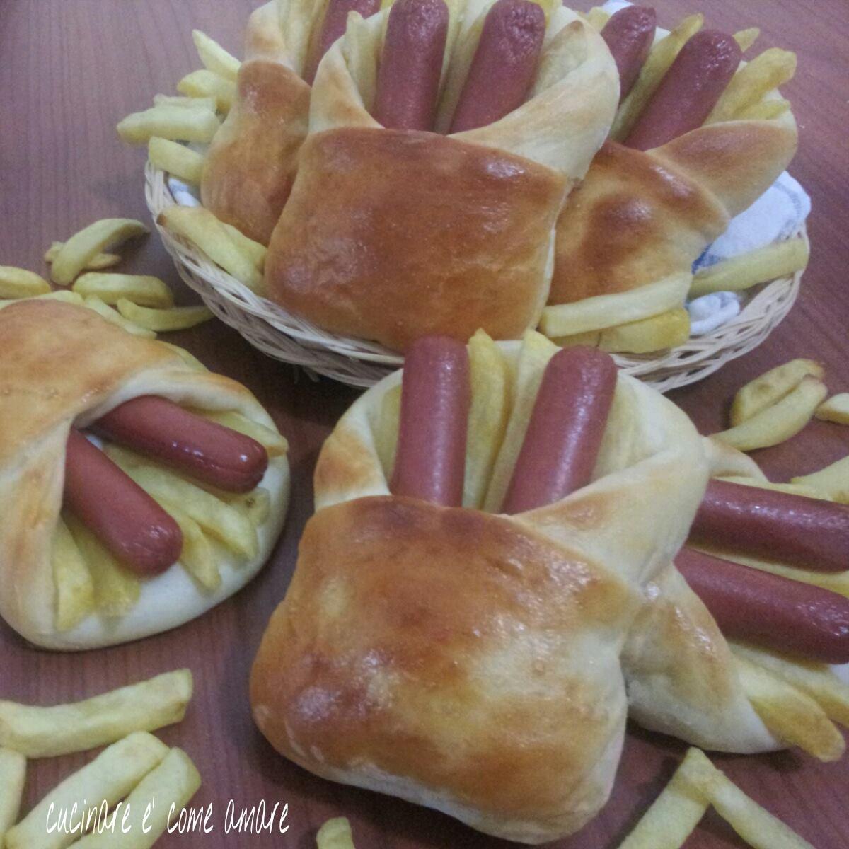 Sacchettini brioche con wurstel e patatine cucinare for Cucinare wurstel