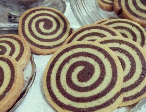 Frollini girella vaniglia e cioccolato