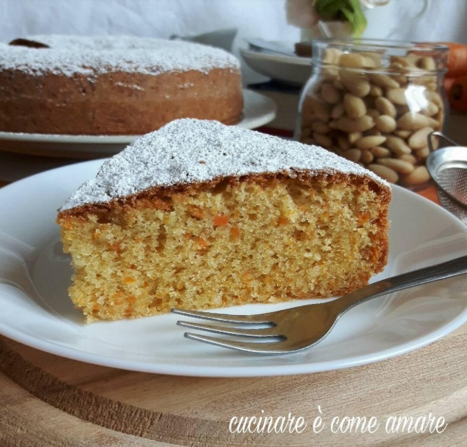 Torta con mandorle e carote senza lattosio cucinare for Cucinare carote