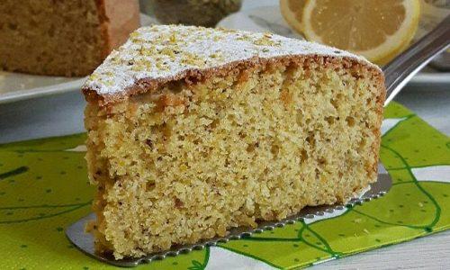Torta limone e pistacchio