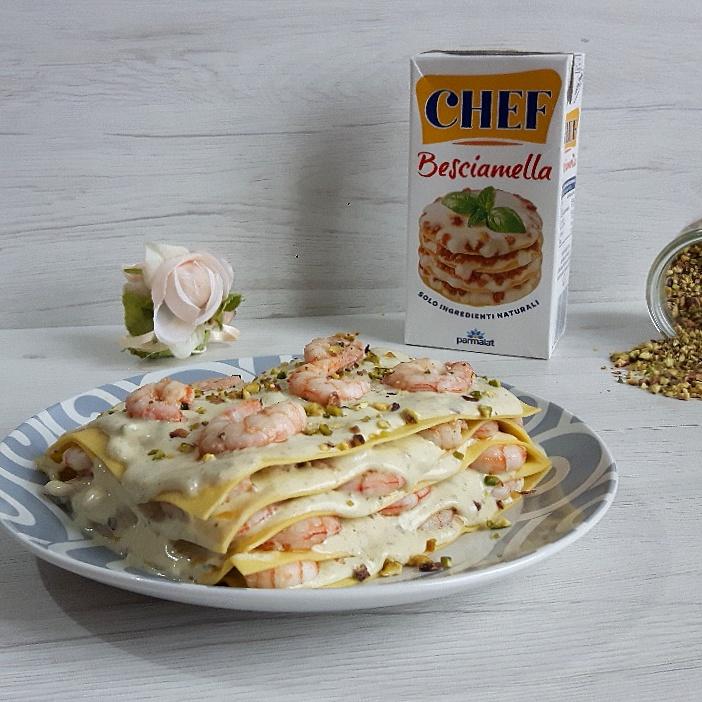 Lasagne Con Pesto Di Pistacchi Besciamella E Gamberi Cucinare E