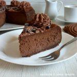 Cheesecake al cioccolato cotta in forno