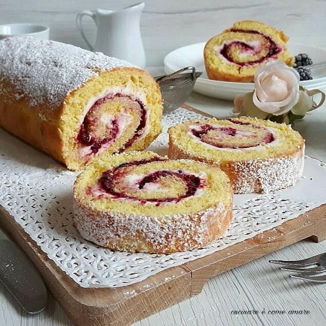Torta Arrotolata Con Crema Al Mascarpone E Marmellata Cucinare è