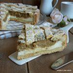 CROSTATA VARIEGATA pistacchio con crema di ricotta