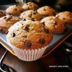 MUFFIN SOFFICI senza burro con farina integrale e cioccolato