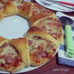 PIZZA CORONA FARCITA con impasto brioche salato