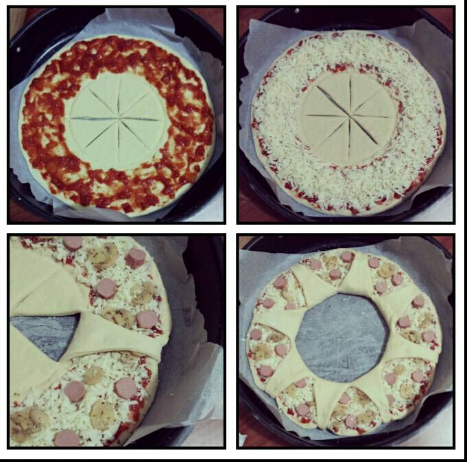 pizza corona farcita