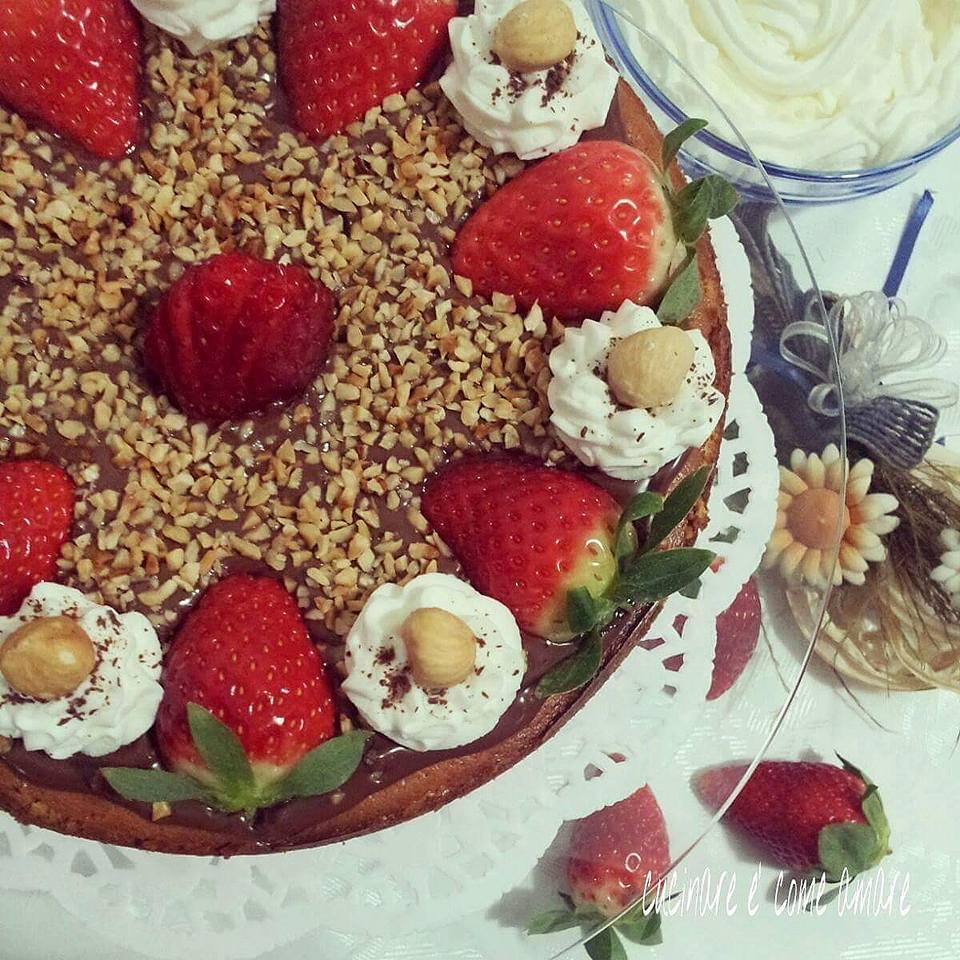 torta cheesecake con ricotta e crema