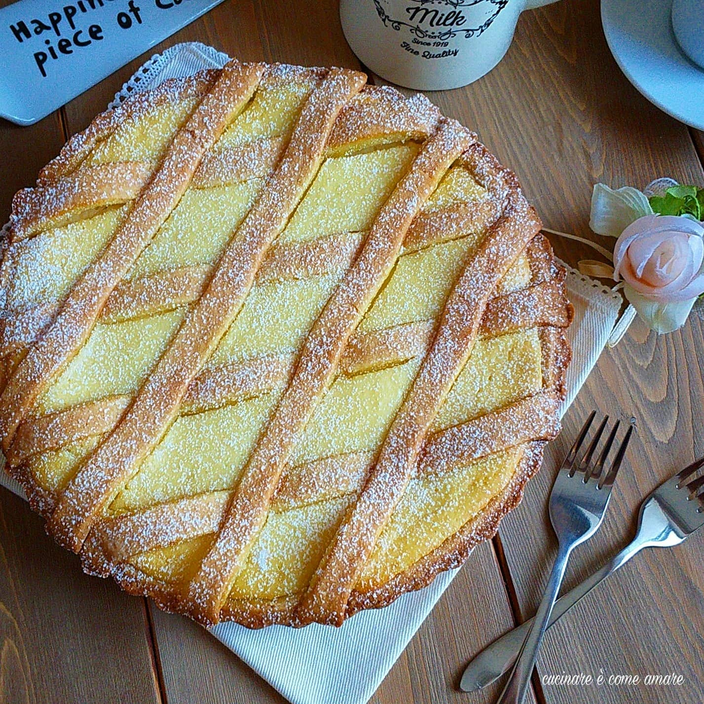 crostata similpastiera con crema ricotta