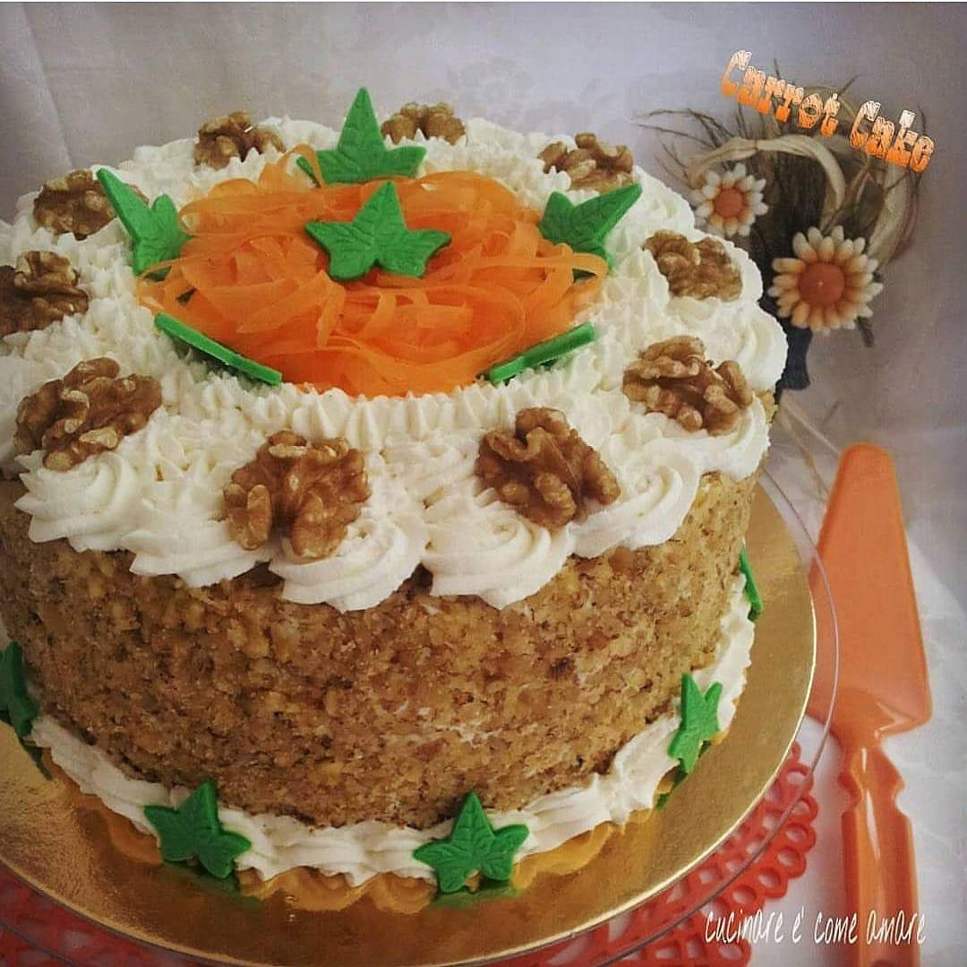 torta americana con noci carote e crema mascarpone