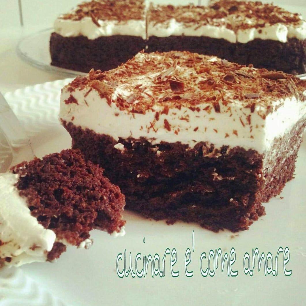 torta veloce cacao e panna