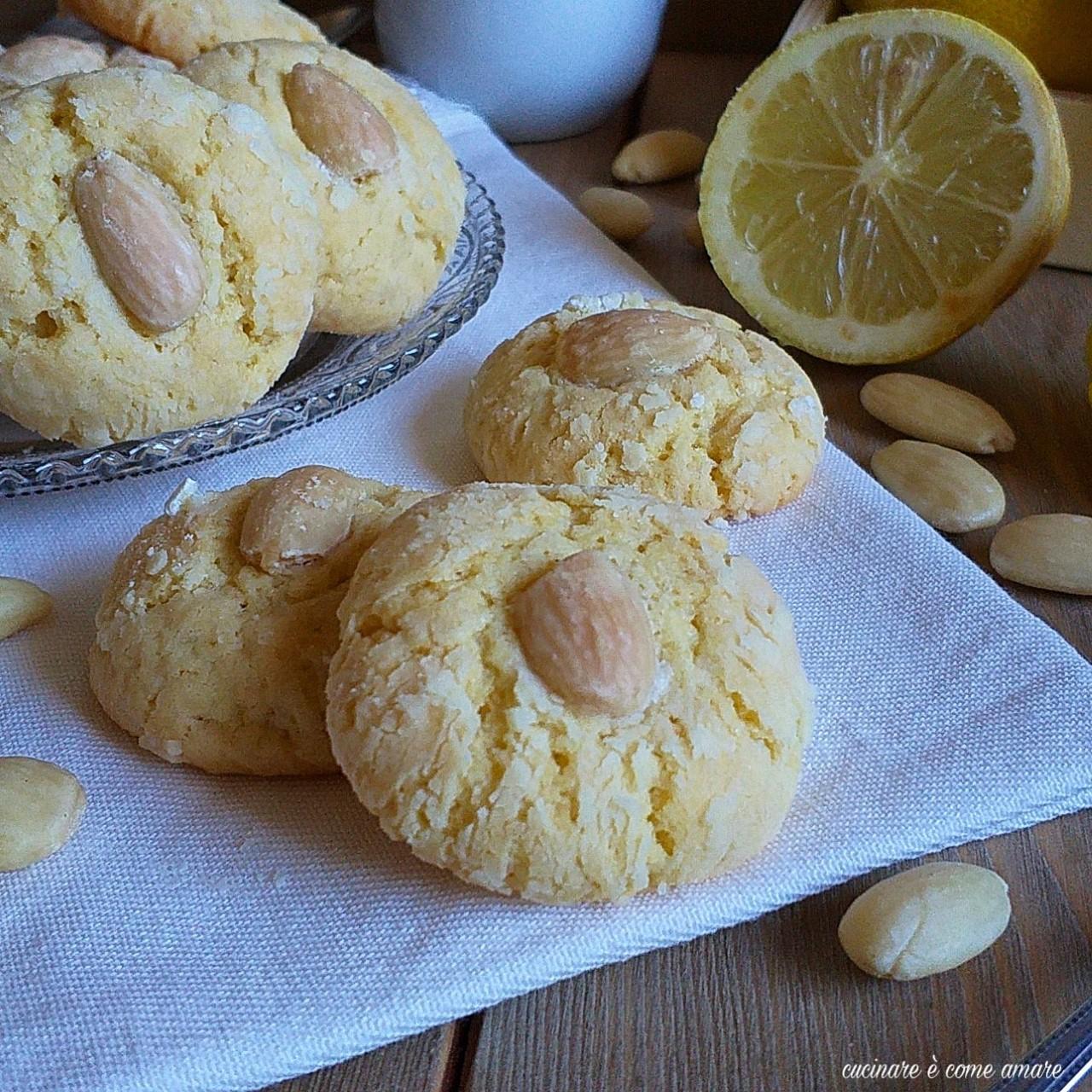biscotto al limone e mandorla