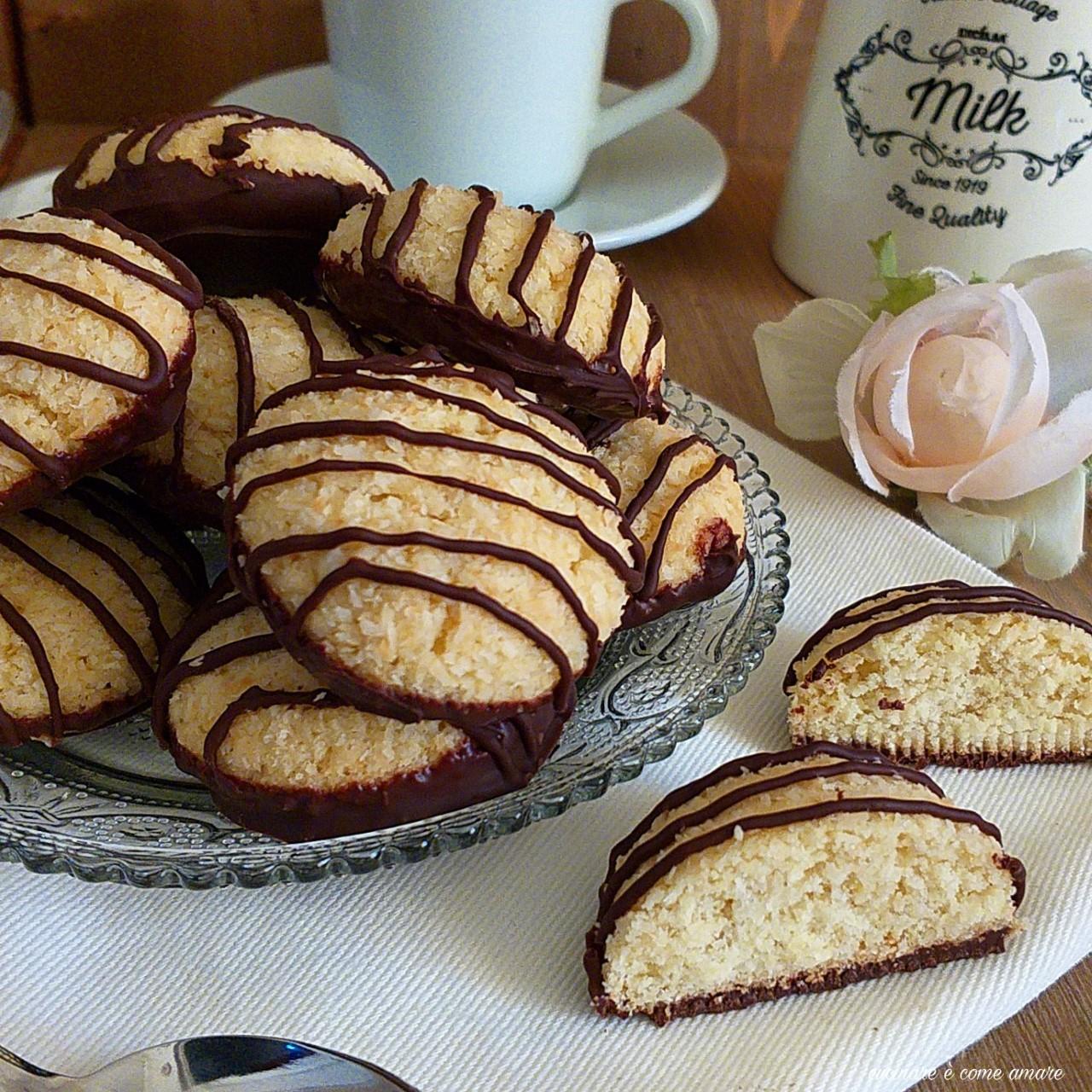 biscotto con cocco e cioccolato
