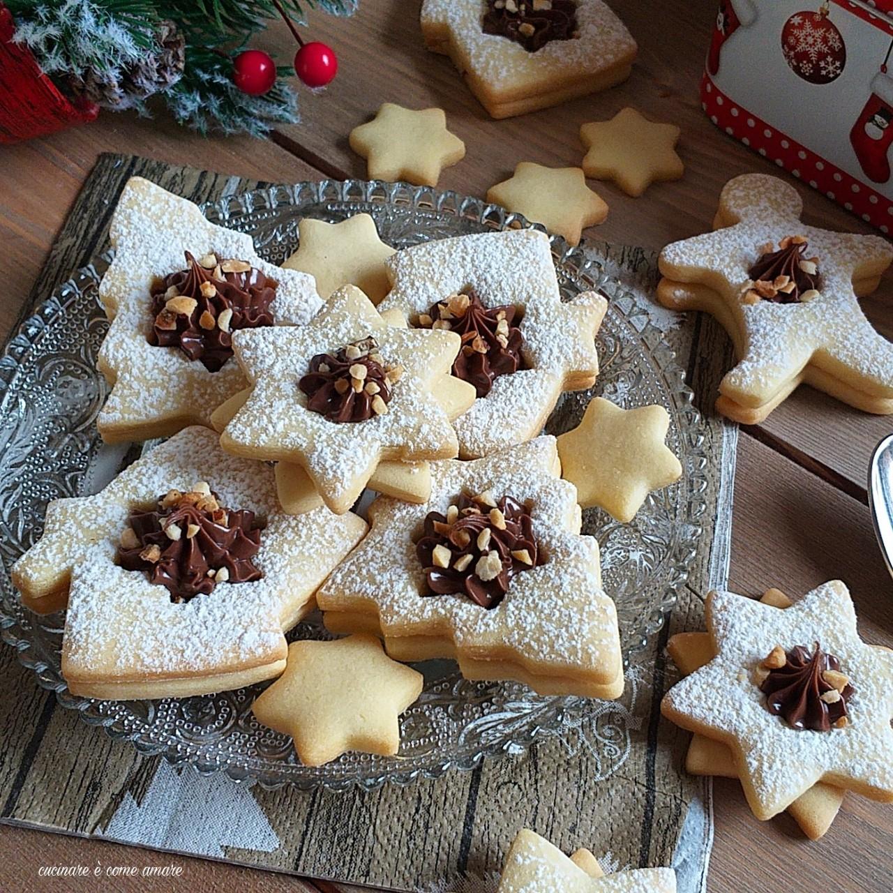 Ricetta Biscotti Di Natale.Biscotto Di Natale Con Nutella