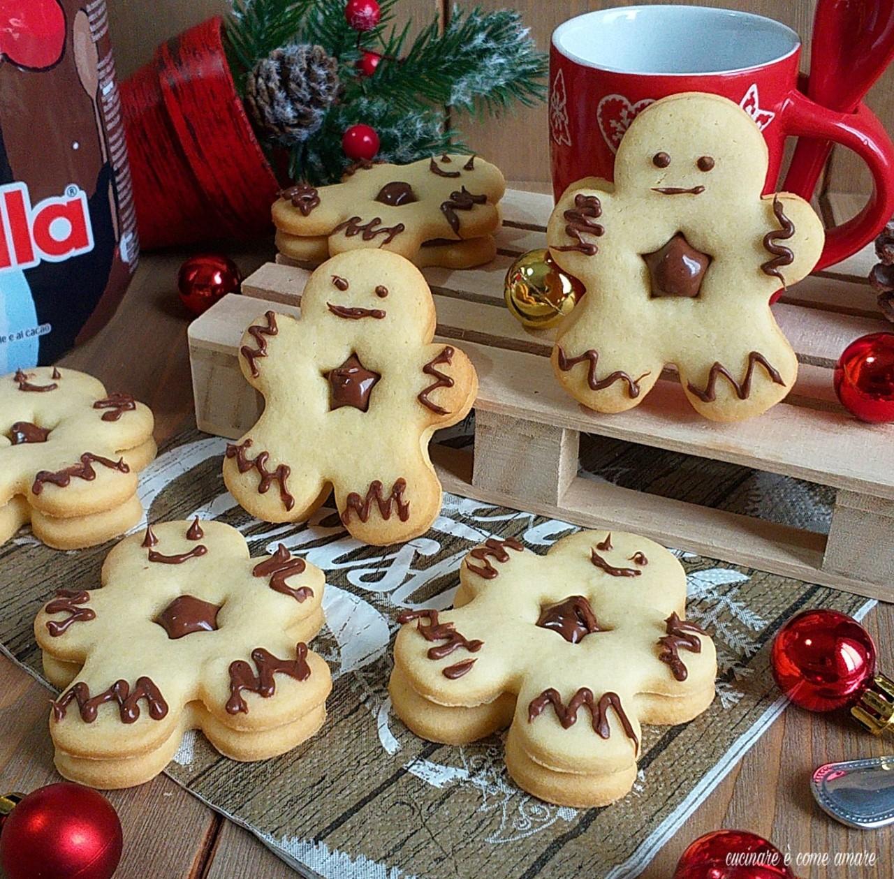 biscotto omino con nutella