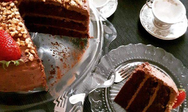 TORTA 3 STRATI con ganache cioccolato