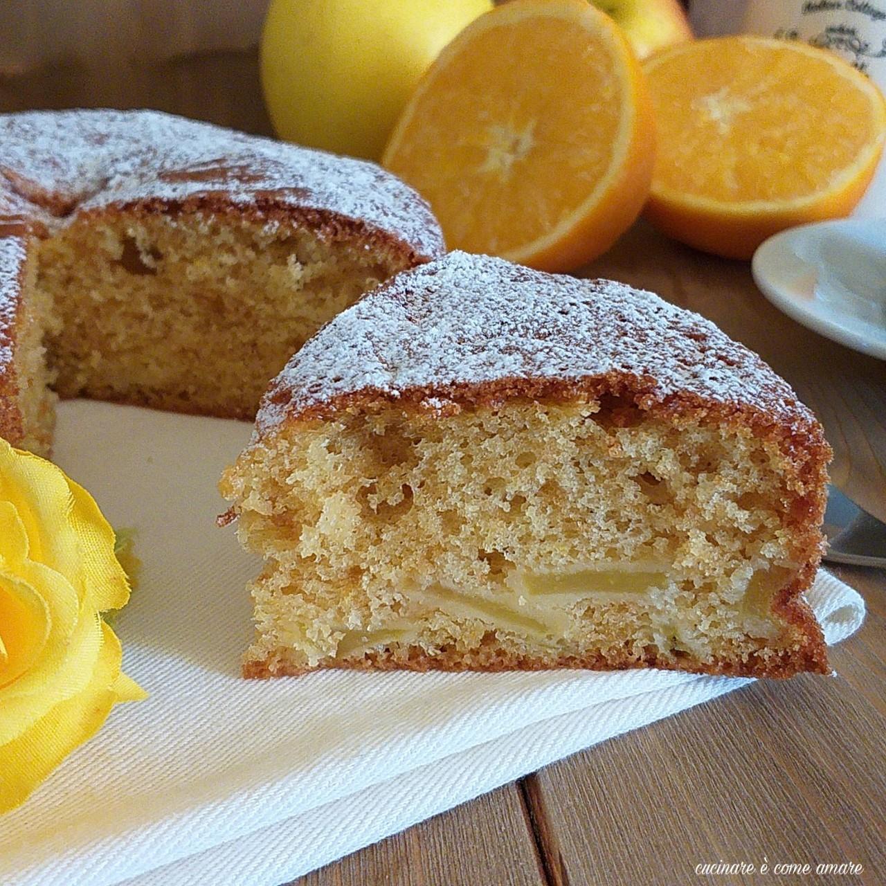 Torta 5 minuti arancia e mela cucinare come amare for Cucinare 5 minuti