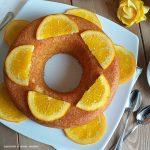 TORTA CIAMBELLONE DOLCE all'arancia