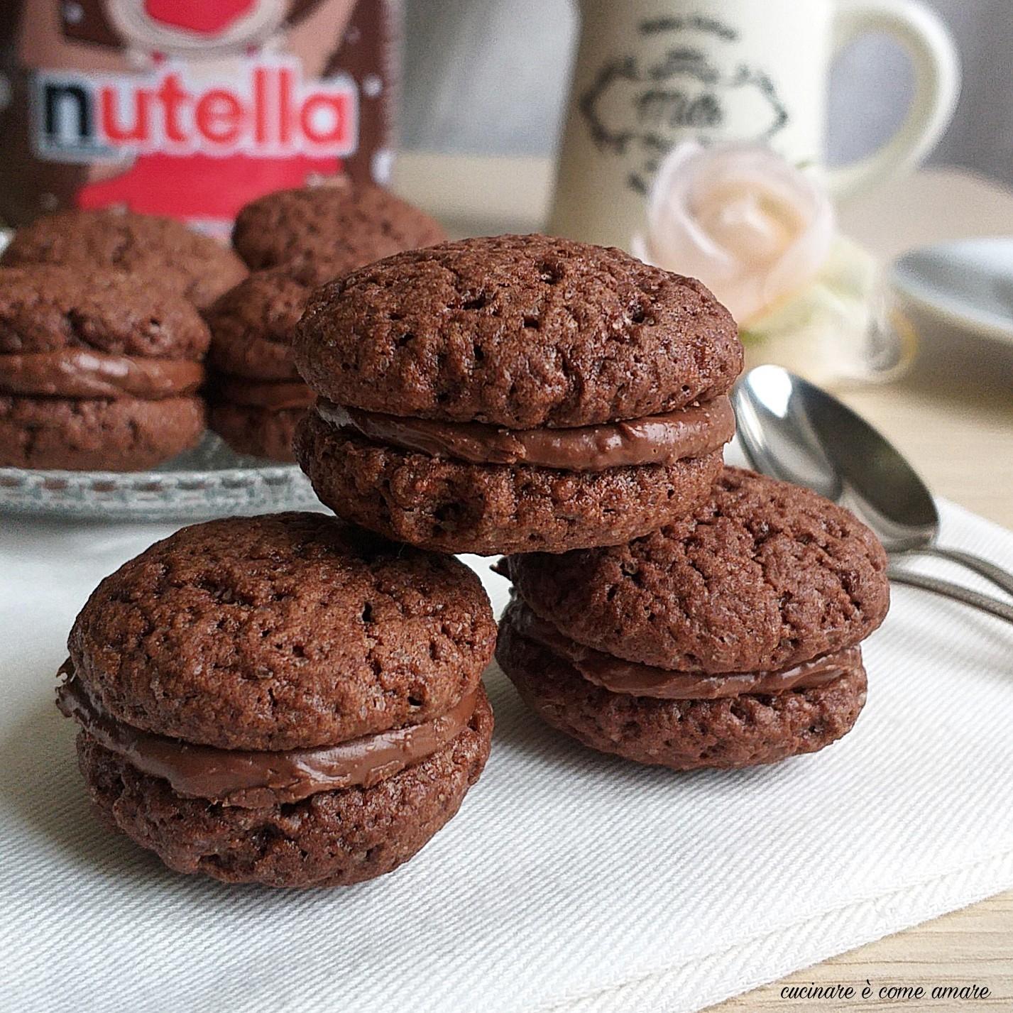 Biscotto bacio cacao alla nutella